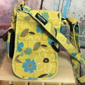 Kavu CrossBody Yellow with Blue Flowers